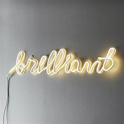brilliant neon wall light pbteen