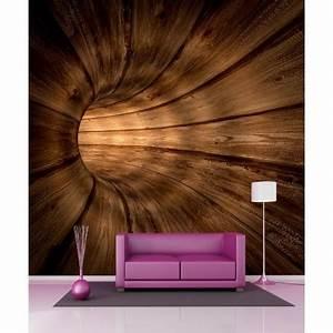 Papier Peint Geant : papier peint g ant tunnel en bois 11075 stickers muraux deco ~ Premium-room.com Idées de Décoration