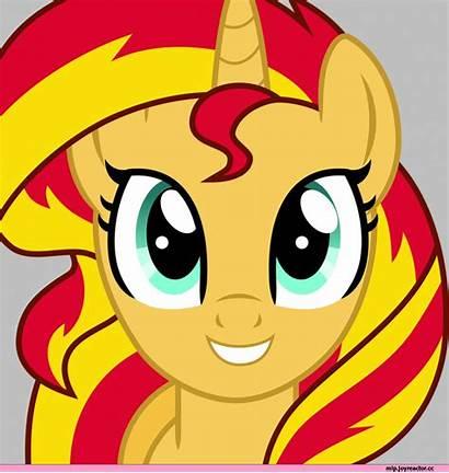 Pony Shimmer Sunset Evil Mlp Eyes Glow