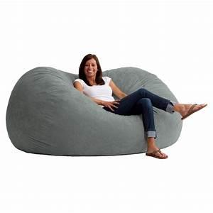 Bean Bag Chairs : fuf 6 ft xl comfort suede bean bag sofa bean bags at hayneedle ~ Orissabook.com Haus und Dekorationen