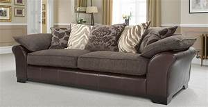 Martina 4 seater pillow back sofa sitting room for Perez 4 seater pillow back sectional sofa