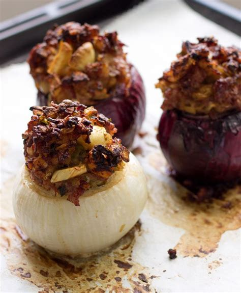 baked sausage stuffed onions recipe eatwell