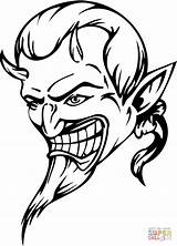 Devil Coloring Diable Printable Dibujos Colorear Dibujo Coloriage Skull Demonio Demon Diablo Kleurplaat Devils Disegni Kleurplaten Adults Halloween Colorare Disegno sketch template