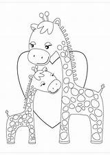 Giraffe Coloring Printable Giraffes Tulamama Cartoon Malvorlagen Ausmalbilder Zum Heart Colouring Sheets Ausmalen Hugging Bucket Drucken Clipart Printables Embroidery Patterns sketch template