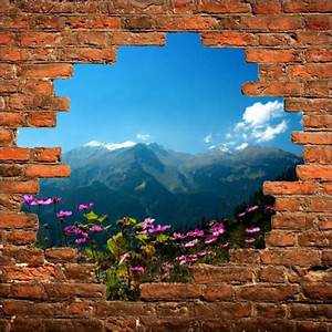 Tableau Trompe L Oeil Paysage : sticker mural trompe l 39 oeil paysage stickers autocollants ~ Melissatoandfro.com Idées de Décoration