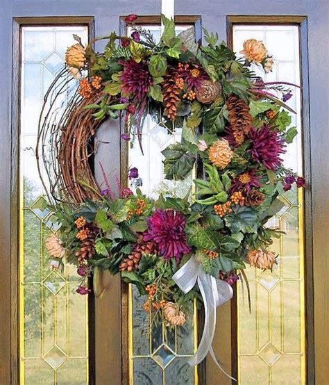 wall flower arrangements fall d 233 cor wreath silk flower arrangement wall door 3309