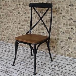 Chaise Bois Et Fer : chaise fer et bois ~ Melissatoandfro.com Idées de Décoration