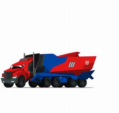 Optimus Transformers Disguise Prime Robots Rid Truck