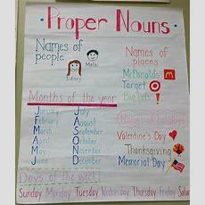 Proper Nouns  Capital Letters  Grammar Anchor Charts, Proper Nouns, Noun Anchor Charts