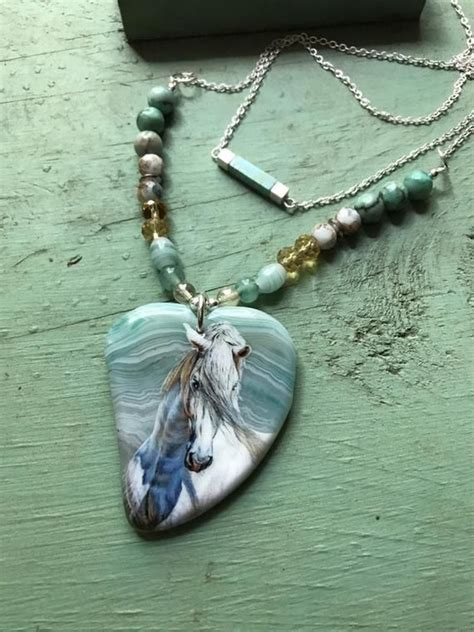 horse necklace andalusian jewelry