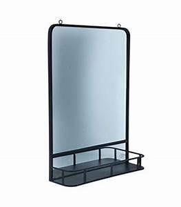 Miroir Metal Noir : miroir mural en bois argent avec moulures ~ Teatrodelosmanantiales.com Idées de Décoration