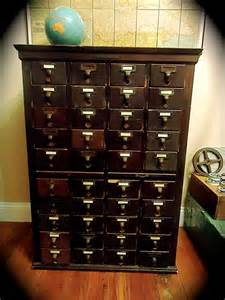 Antique Library Card Catalog Cabinet for Sale