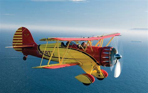 waco ymf super 2006 plane pilot resolution desktop advertisement