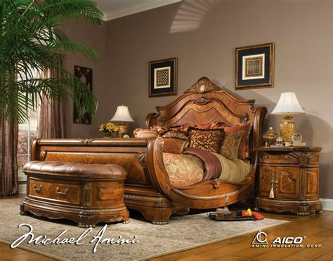 michael amini cortina luxury bedroom furniture set  aico