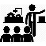 Factory Construction Icon Engineer Supervisor Supervise Manager