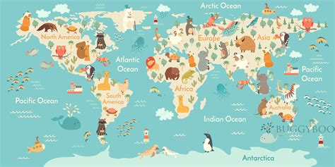 Animal Map Of The World Wallpaper - africa map wallpaper 183