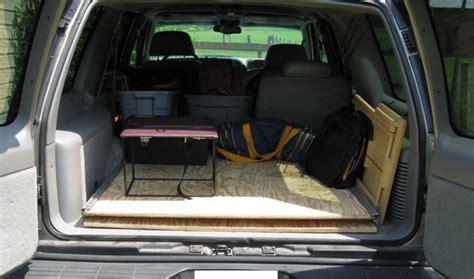 cargo area platform slider suv truck station wagon