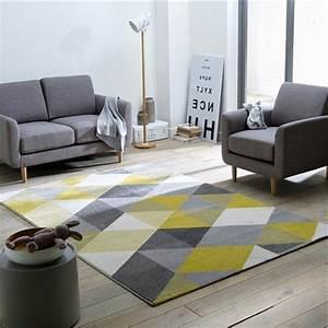 Decoration tapis jaune gris 27 le mans 04011922 enfant for Tapis rond gris pas cher