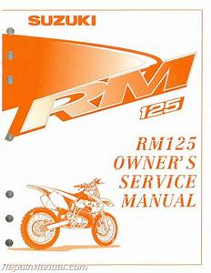 1999 Suzuki Rm125x Motorcycle Owners Service Manual