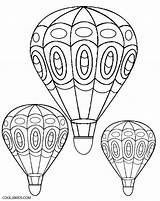 Balloon Coloring Air Printable Balloons Template Colouring Cool2bkids Adults sketch template