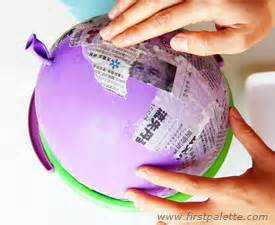 papier mache balloon 39 crafts how to 39 s firstpalette