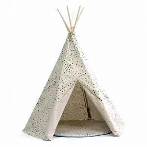 Tipi Little Nice Things : tipi enfants nobodinoz arizona confettis vert noir la tente d 39 indien ~ Preciouscoupons.com Idées de Décoration