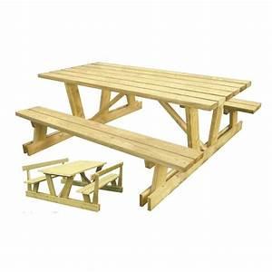 Table Bois Pique Nique : table de pique nique avec dossier table de pique nique pmr en bois ~ Melissatoandfro.com Idées de Décoration