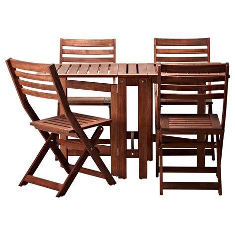 ikea chaises pliantes äpplarö table 4 chaises pliantes extérieur teinté brun ikea