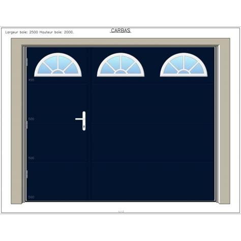 porte de garage basculante carbas 40 mm avec portillon