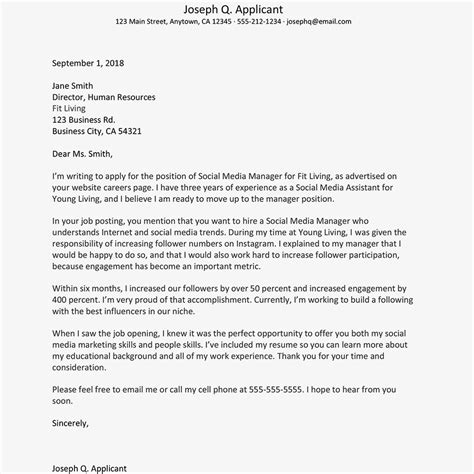 Writing An Cover Letter by Free Cover Letter Exles And Writing Tips