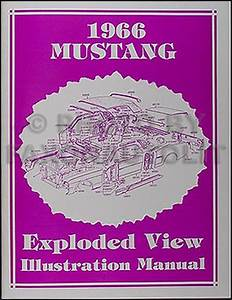1966 Ford Mustang Wiring Diagram Manual Reprint