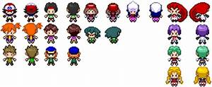 Pokemon Black and White Sprites: Anime Characters by ...