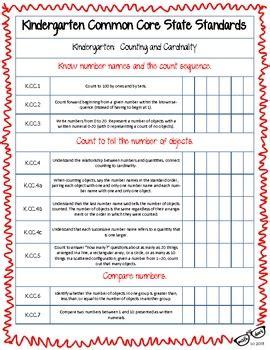 free math common state standards k 2 checklist by 569 | original 652816 2