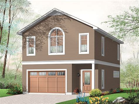 Garage Apartment Plans  Carriage House Plan With 1car