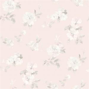 Captiva Light Pink Floral Toss Wallpaper - Farmhouse ...