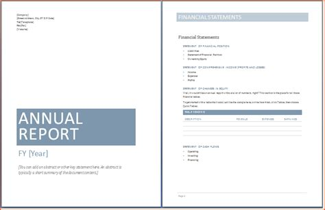 financial report template word 6 word report templates bookletemplate org