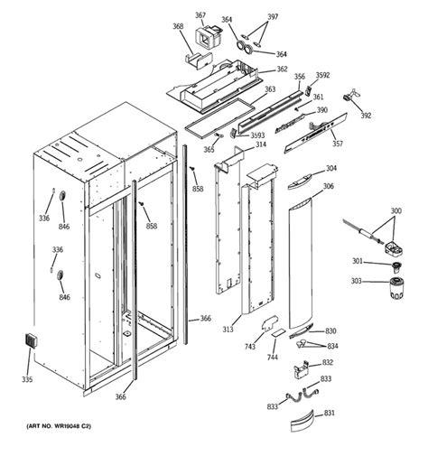 ge monogram refrigerator built  side  side  freezing food   food section