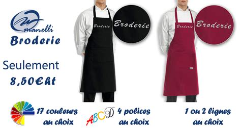 tablier de cuisine personnalisé homme tablier cuisine personnalisé tablier brodé broderie