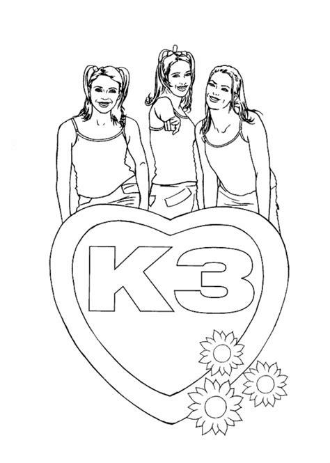 K3 Kleurplaat Printen by K3 Gratis Kleurplaten