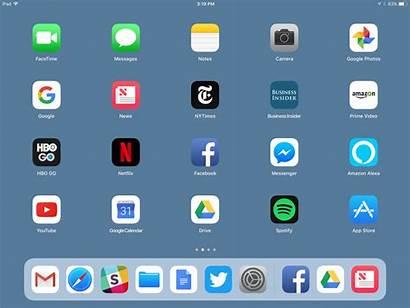 Ipad Screen App Bottom Ios Dock Thing