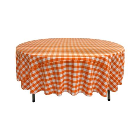 tablecloth for 36 round table la linen polyester gingham checkered 72 inch round