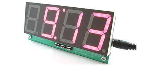 diy digital clock  temperature display  pic