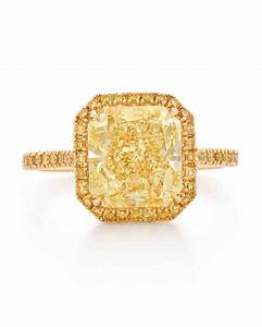 yellow diamond engagement rings martha stewart weddings With yellow diamond wedding ring