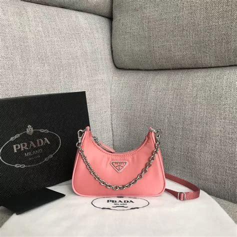 prada  edition  nylon mini shoulder bag bh pink