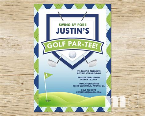 golf themed birthday invitations ideas bagvania