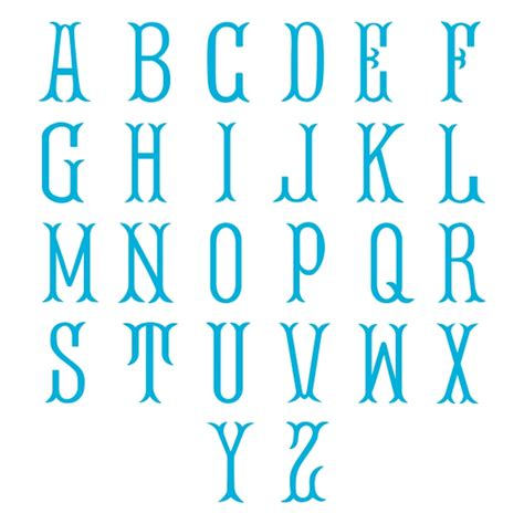 fish tail monogram svg cuttable font
