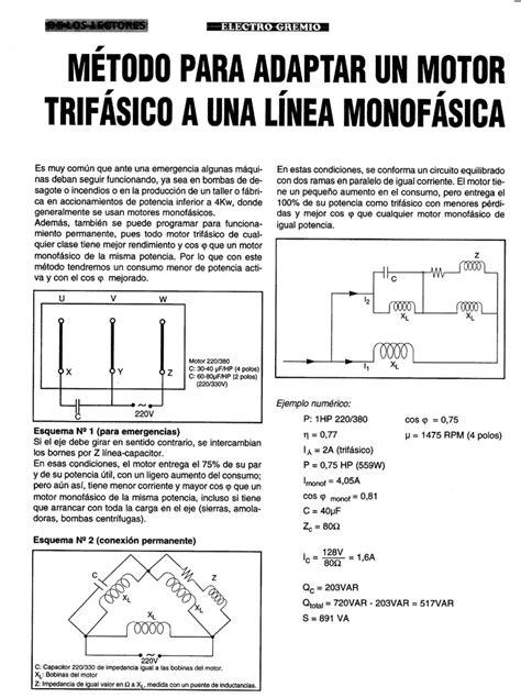 solucionado esquema de motor trifasico a monofasico ayuda yoreparo
