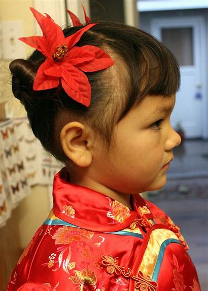 Hairstyles Side Chinese Bun Buns Hairstyle Traditional