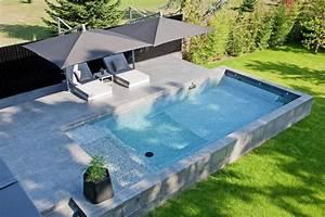 Norme Pour Piscine Hors Sol : piscine en kit semi enterr e beton ~ Zukunftsfamilie.com Idées de Décoration