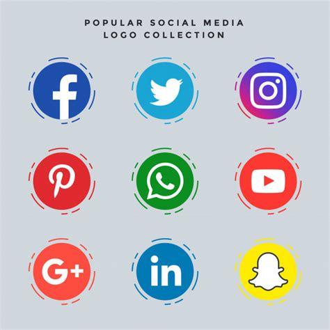 Social Media Icons Vector Popular Social Media Icons Set Vector Free